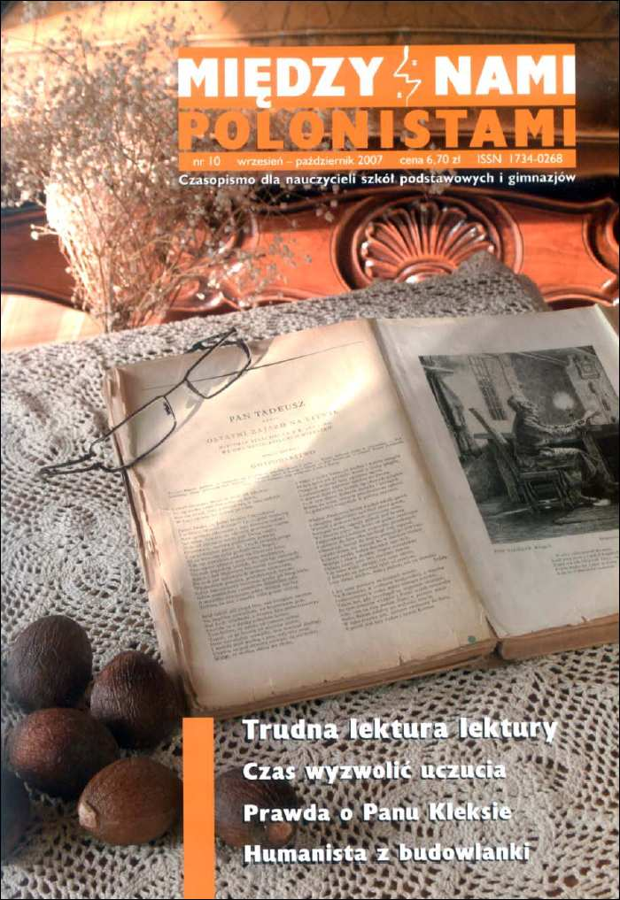 Mi�dzy nami polonistami - Czasopismo dla nauczycieli szk� podstawowych i gimnazj�w