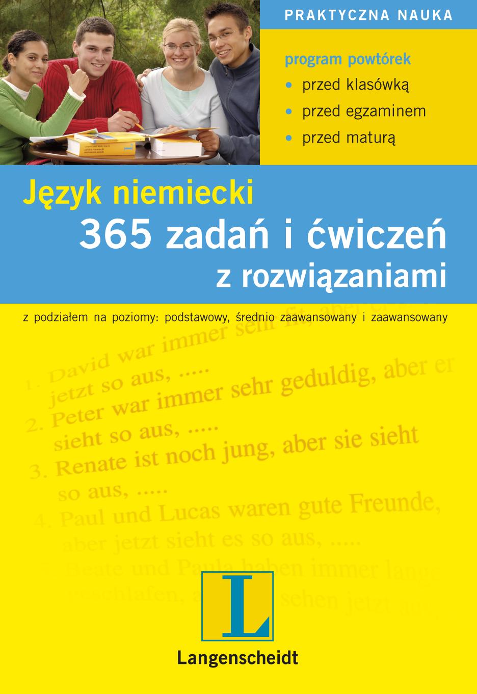 :: 365 zadań i ćwiczeń z rozwiązaniami. Język niemiecki - ebook ::