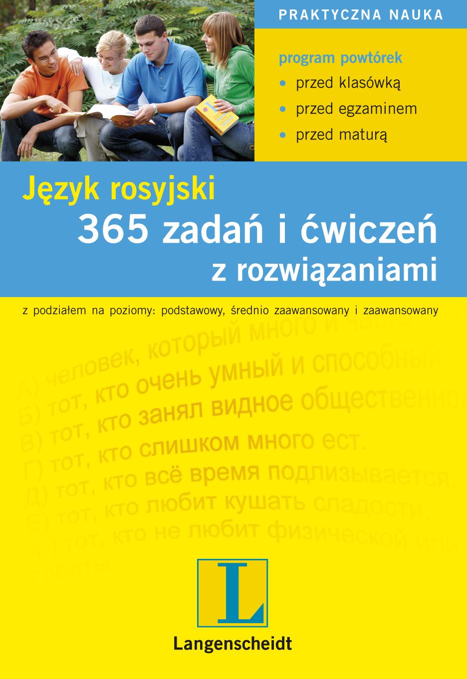 365 zadań i ćwiczeń z rozwiązaniami. Język rosyjski - ebook -  Langenscheidt, książki, eksiążki, języki obce, język rosyjski, e-kurs,zadania, ćwiczenia epartnerzy.com
