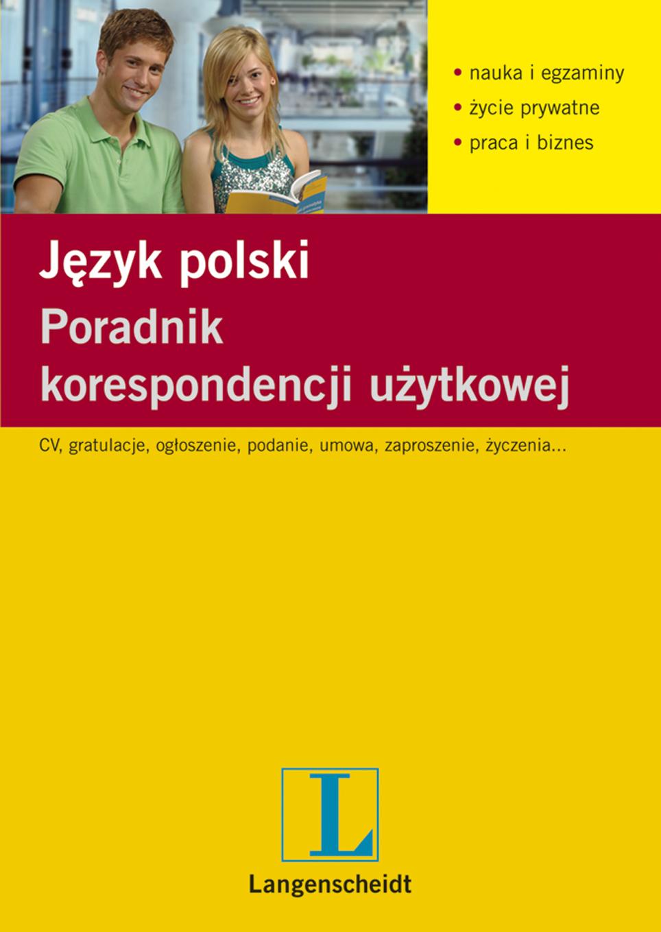 Poradnik korespondencji użytkowej. Język polski - ebook, Langenscheidt, książki, eksiążki, poradnik,język polski,korespondencja, epartnerzy.com