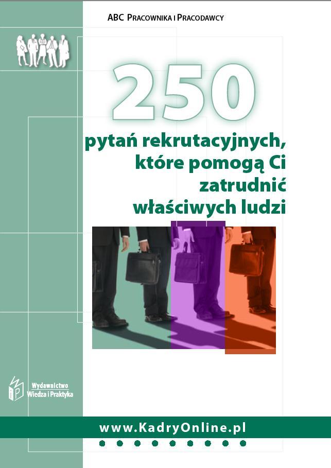 250 pytań rekrutacyjnych