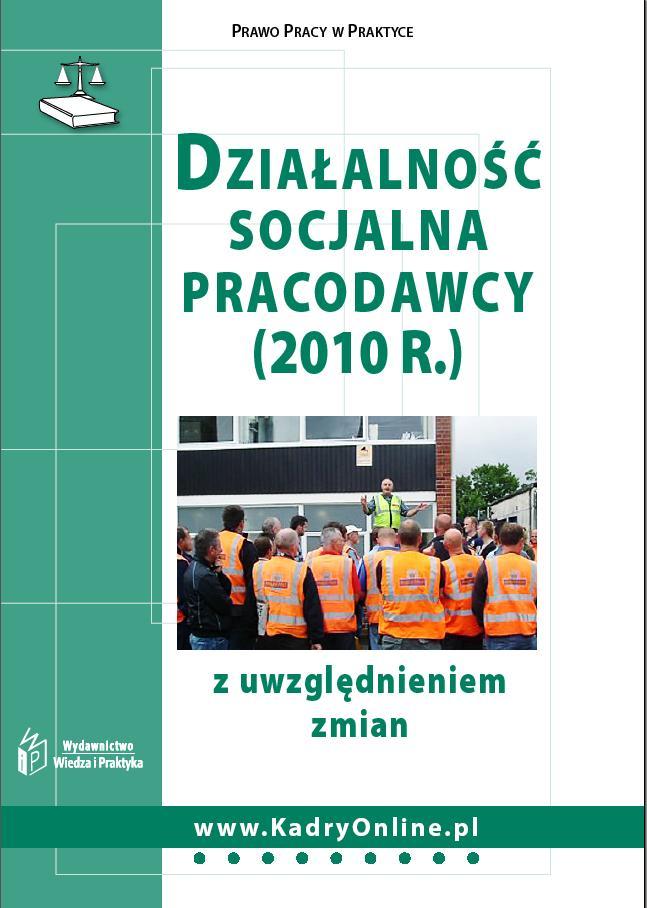 Działalność socjalna pracodawcy (2010 r.)
