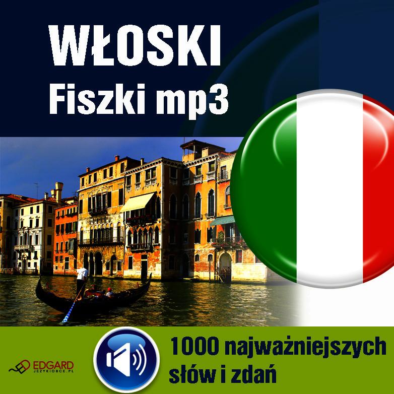FISZKI,audio,język,Włoski,mp3,1000, najważniejszyc,słów,zdań,audiokurs