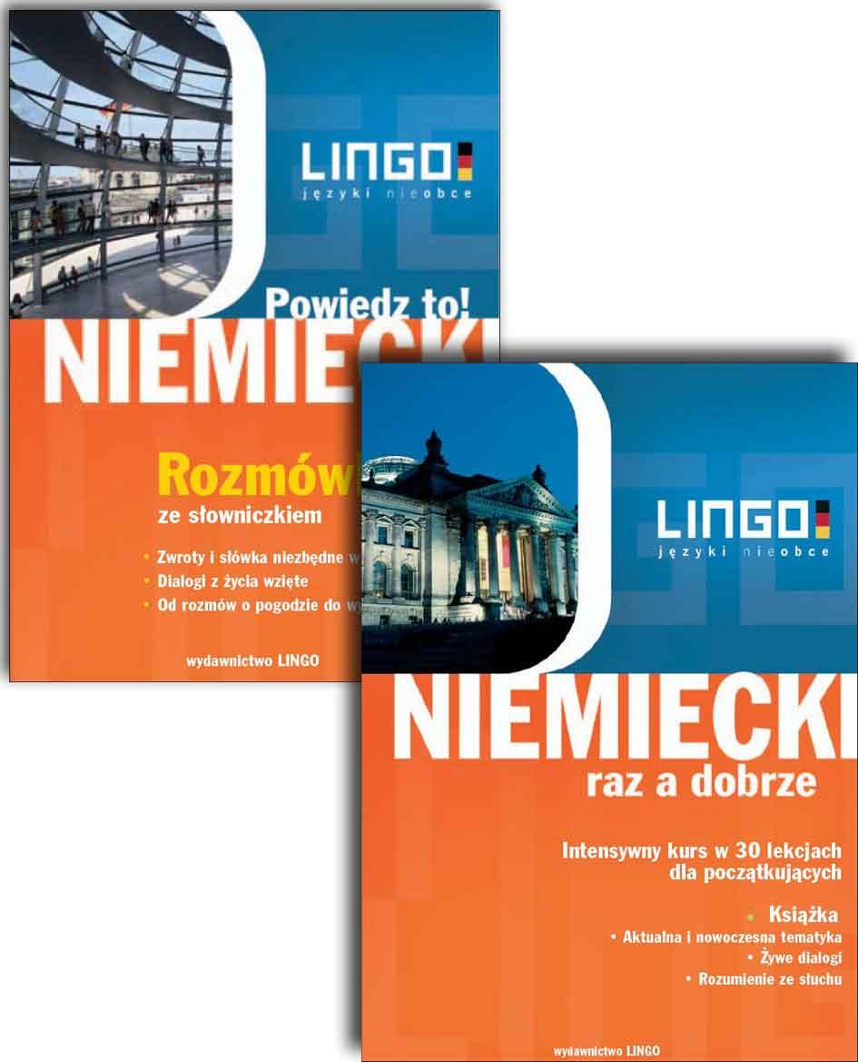 PAKIET: Język niemiecki - audio kurs + e-book – Wydawnictwo Lingo Sp. J., audiobook, książki audio, ebook, eksiążki, języki obce, kursy językowe, kurs jezyka niemieckiego, pakiet kursów, epartnerzy.com