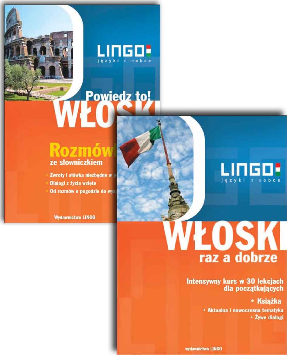 PAKIET: Język włoski - audio kurs + e-book– Wydawnictwo Lingo Sp. J., audiobook, książki audio, ebook, eksiążki, języki obce, kursy językowe, kurs jezyka włoskiego, pakiet kursów, epartnerzy.com