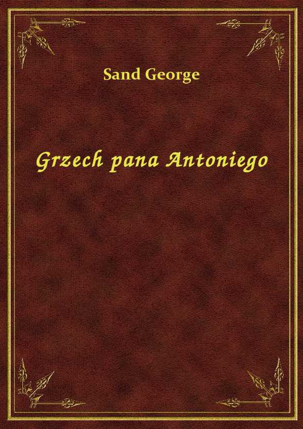 Grzech pana Antoniego ebook