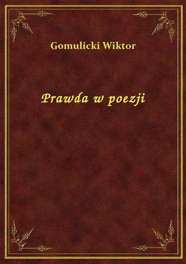 Prawda w poezji ebook