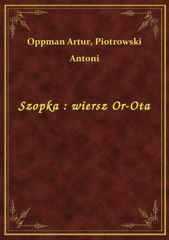 Szopka : wiersz Or-Ota ebook