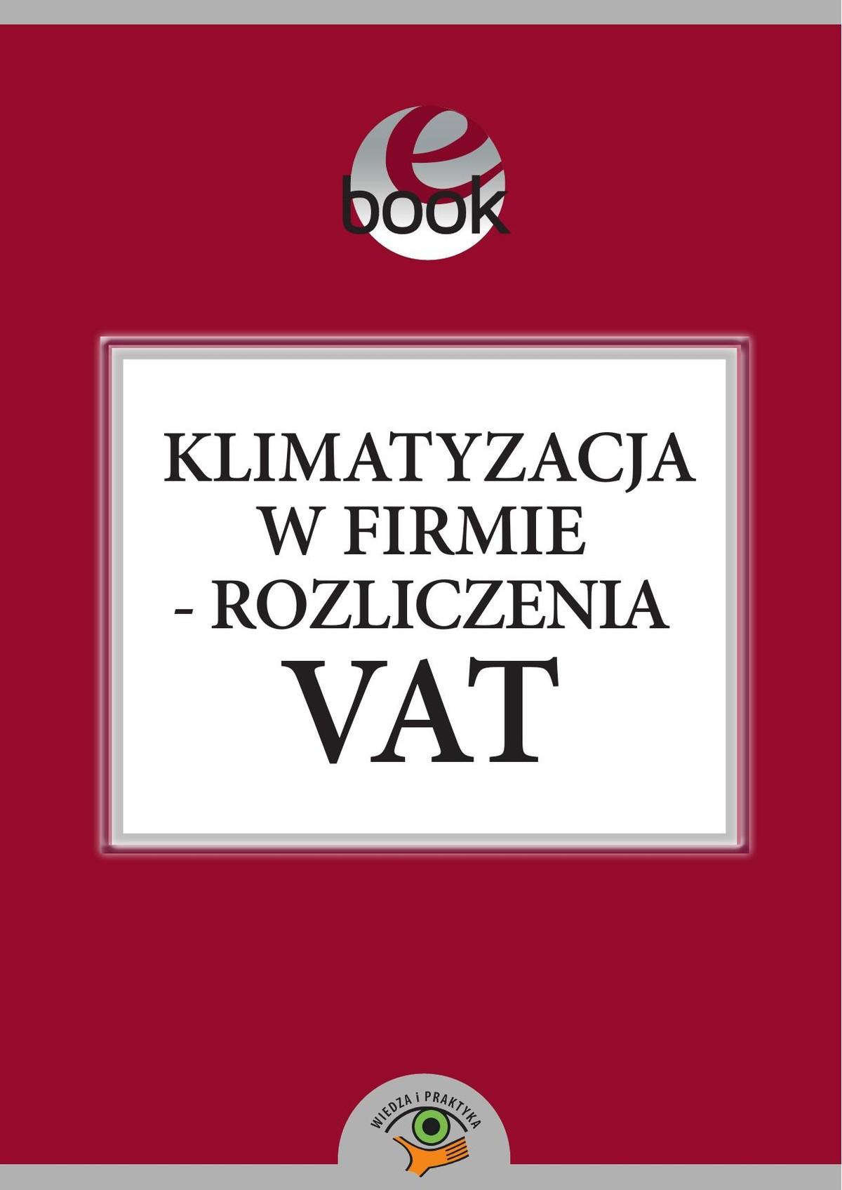 Klimatyzacja w firmie - rozliczenia VAT ebook