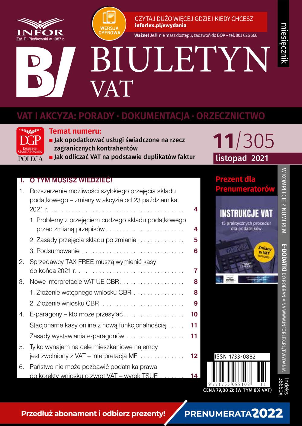Biuletyn,VAT, akt,biznes,biznesowe,czasopismo,dziennik,dzienniki,e-prasa,jaki, miesiecznik,polski,pracy,prasa