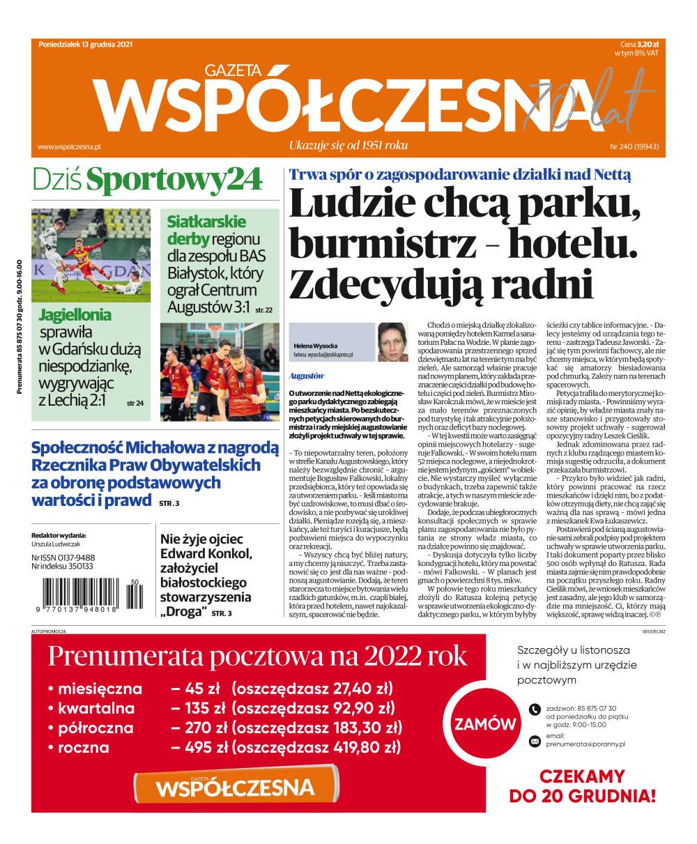 Gazeta Współczesna - Suwalska - e-wydanie